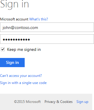 Sign into Microsoft OneDrive.