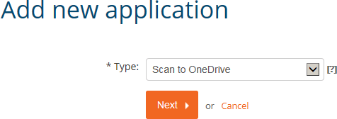 Add new application: Scan to OneDrive