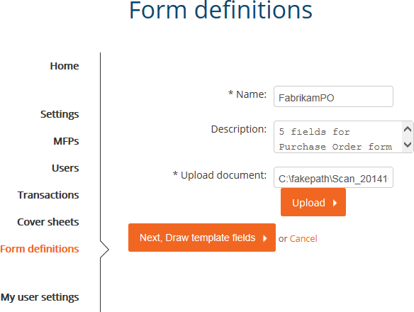 Form Definitions